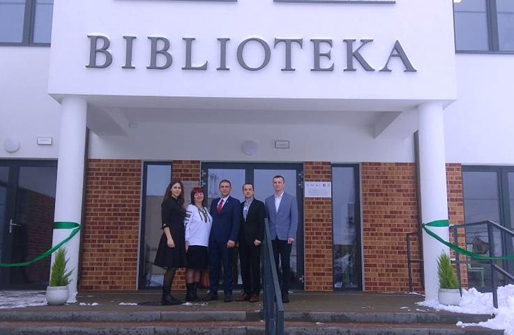 ДЕЛЕГАЦІЯ ЯМНИЦЬКОЇ ГРОМАДИ НА ВІДКРИТТІ БІБЛІОТЕКИ У ПАРТНЕРСЬКІЙ ҐМІНІ СВЬОНТКИ