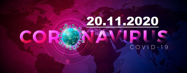 COVID-19 У ЯМНИЦЬКІЙ ОТГ СТАНОМ НА 20.11.2020