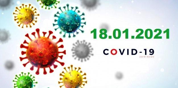 COVID-19 У ЯМНИЦЬКІЙ ГРОМАДІ СТАНОМ НА 18.01.2021
