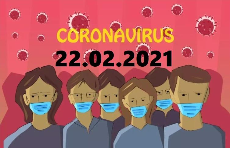 COVID-19 У ЯМНИЦЬКІЙ ГРОМАДІ СТАНОМ НА 22.02.2021