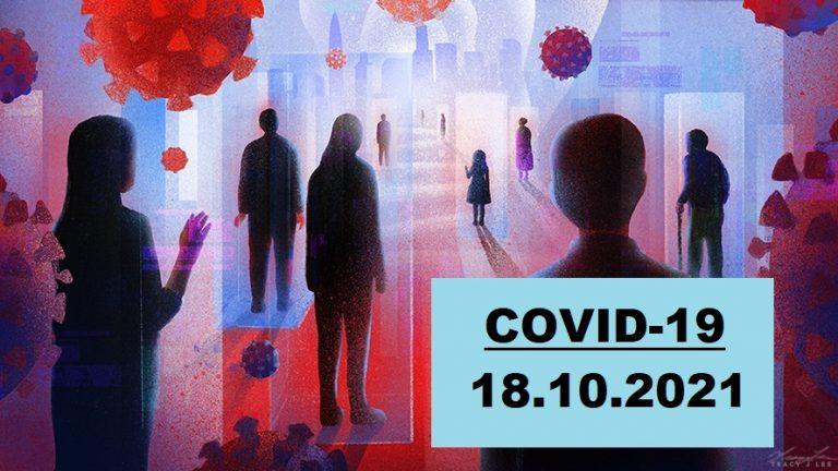 COVID-19 У ЯМНИЦЬКІЙ ГРОМАДІ СТАНОМ НА 18.10.2021